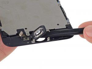 iPhone 6 kijelző csere a home gomb kivétele az előlapból