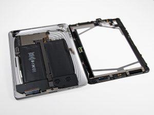 iPad 1 akkumulátor csere, a kijelző leválik a hátlapról