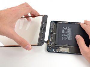 iPad mini akkumulátor csere, az iPad mini két részre válik