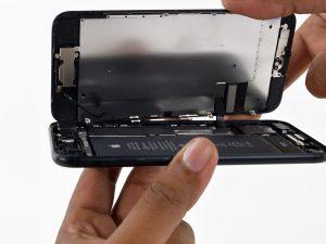 iphone 7 kijelző csere, a kijelző felnyitása