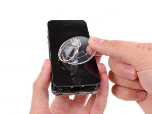 iPhone 5S kijelző csere a kijelző felnyitása 30 fokig